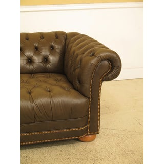 Green Tufted Leather Chesterfield Sofa Preview