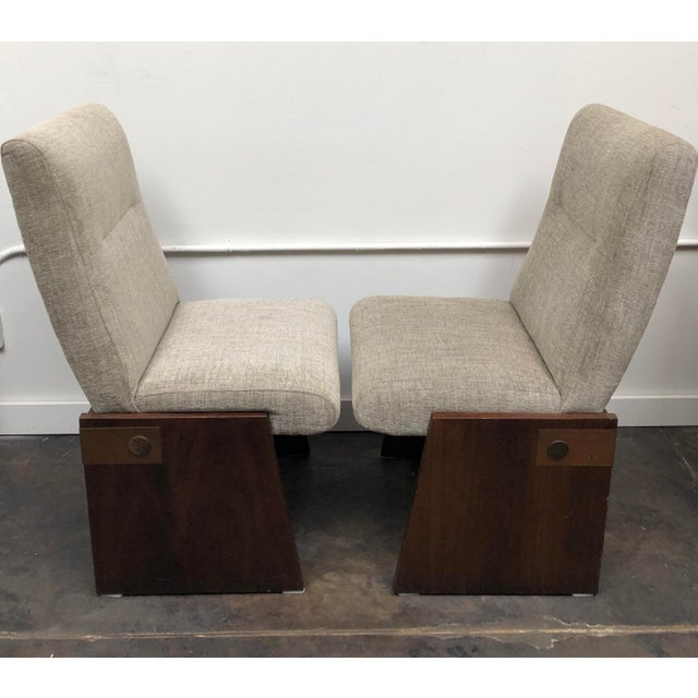 Mid-Century Modern Mid-Century Modern Lane Brutalist Side Chairs- A Pair For Sale - Image 3 of 12