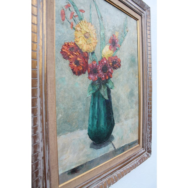 Expressionism Alexander Vintage Still Life of Flowers Painting For Sale - Image 3 of 9
