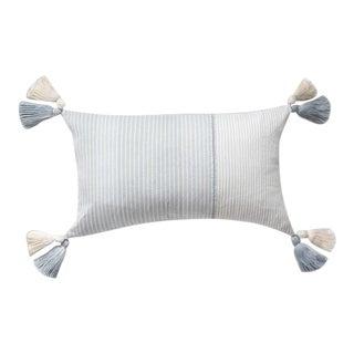 Cloud Blue Striped Guatemalan Pillow For Sale