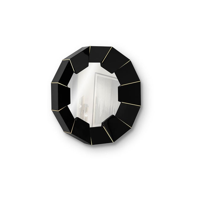 Not Yet Made - Made To Order Darian Black Mirror From Covet Paris For Sale - Image 5 of 9
