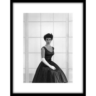 1948 Elizabeth Taylor in Front of Window Photo by John Engstead, Framed (11x14 Print) For Sale