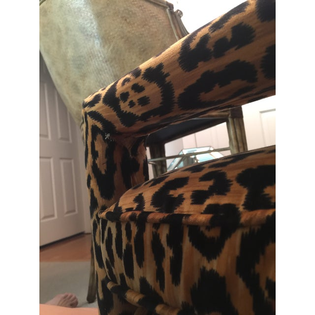 Mid-Century Leopard Baughman Style Parsons Chair For Sale In Raleigh - Image 6 of 10