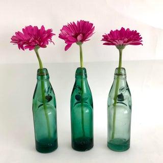 Vintage Codd Neck Soda Bottles - Set of 3 Preview