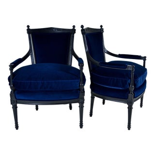 Pair of Directoire Style Fauteuil Chairs