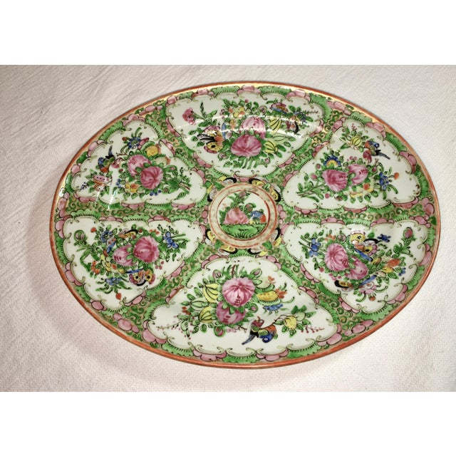 Period antique Rose Medallion Platter from China. This pattern began in 1840. This is one of the early pieces and dates to...