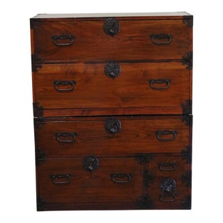 Late 20th Century Keyaki Tansu Chest Of Drawers For Sale