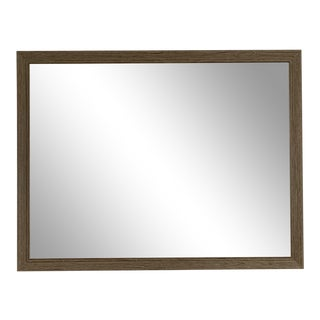Wood Wall Mirror With Beveled Glass For Sale