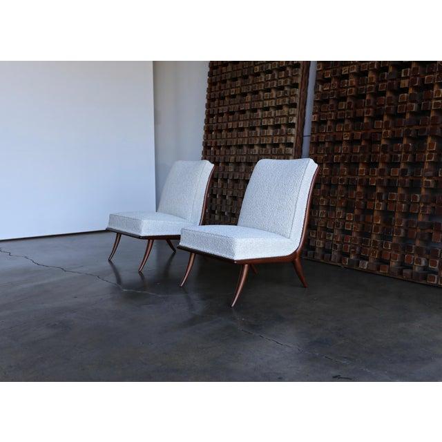 1950s T.H. Robsjohn-Gibbings for Widdicomb Slipper Chairs - a Pair For Sale - Image 5 of 12