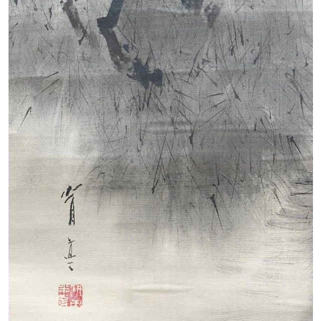 White Triptych Scroll Paintings by Watanabe Seitei Meiji Period - Set of 3 For Sale - Image 8 of 13