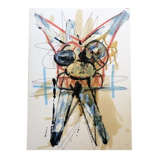 Original Vintage Wayne Cunningham Abstract Figure Oil Painting 1990's For Sale