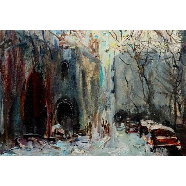 American Kosinski - City Street Siding a Bridge - Oil Painting For Sale - Image 3 of 10