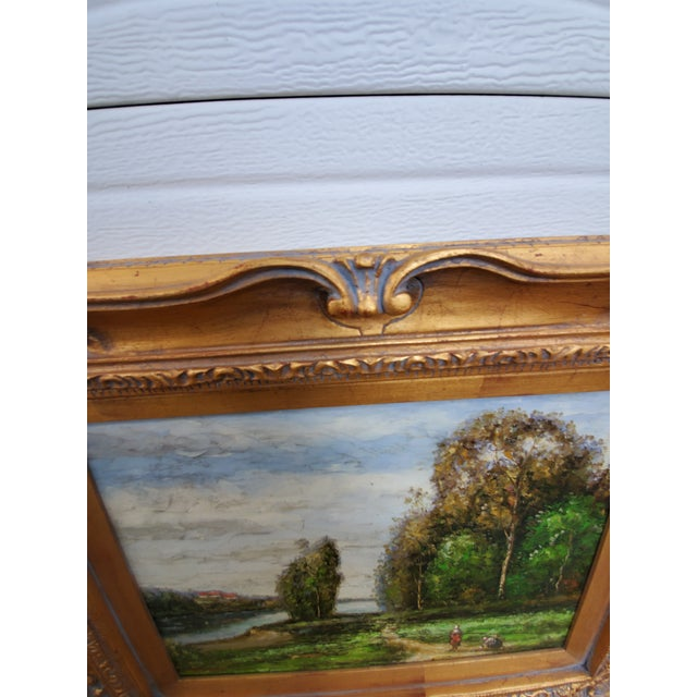 Vintage Mid-Century L. Stephano Oil on Canvas Landscape Painting For Sale - Image 4 of 7