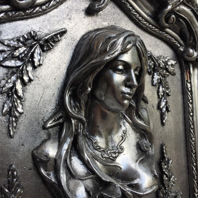 Baroque Silver Pier Mirror For Sale - Image 3 of 5