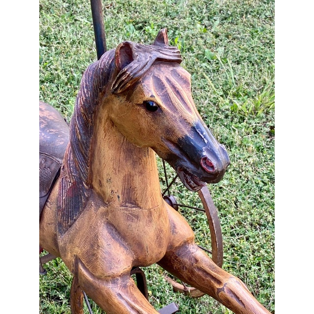 Folk Art Folk Art Child's Bicycle in the Shape of a Horse For Sale - Image 3 of 10