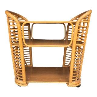 Large 1970's Bamboo Cart