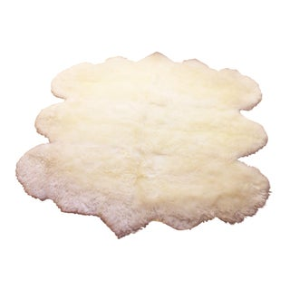 Surya 100% Sheepskin Rug - 5′6″ × 6′ For Sale