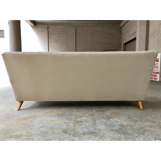Jens Risom for Knoll Sofa - Mid Century Modern Danish Design Button Tufted Couch For Sale - Image 9 of 10