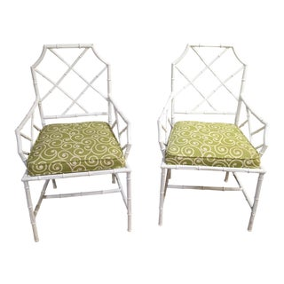 Faux Bamboo Chairs- a Pair