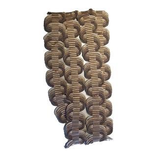 Samuel & Sons Orsay Silk Woven Crete Trim - Remnant Piece For Sale