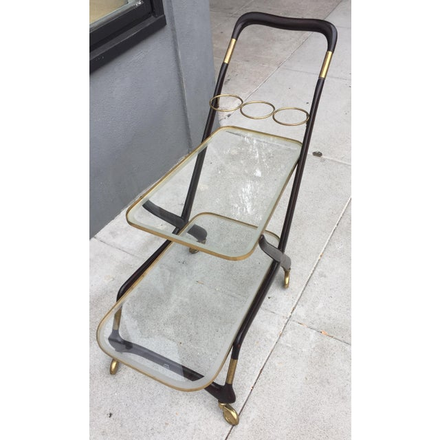 1950s 1950s Vintage Italian Cesare Lacca Bar Cart For Sale - Image 5 of 10