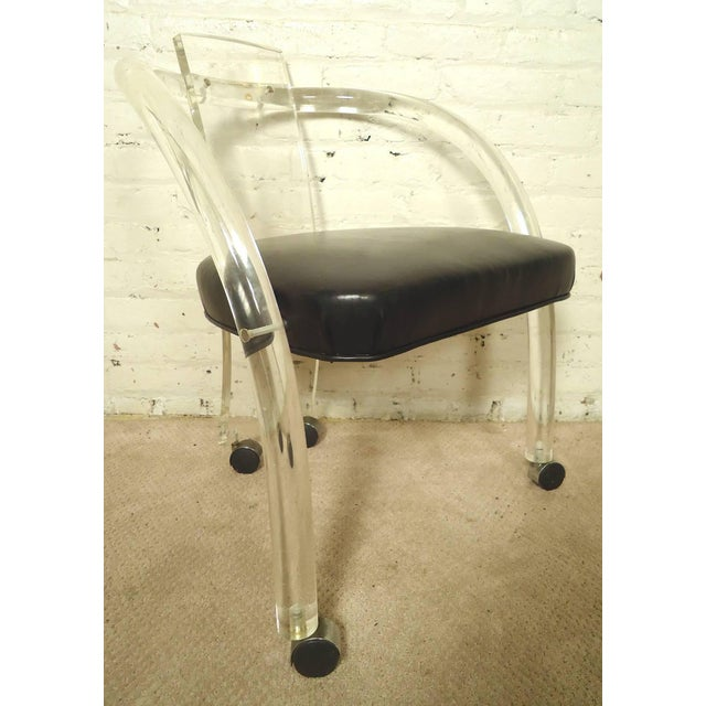 "Wycombe-Meyer Lucite ""Loop"" Chairs - Set of 4 - Image 2 of 8"