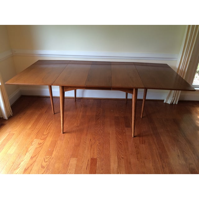 Mid-Century Expandable Drop Leaf Dining Table - Image 3 of 9