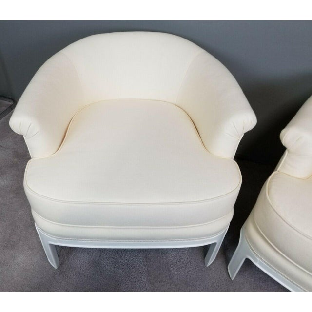 Hollywood Regency Tomlinson Club Chairs - a Pair For Sale - Image 9 of 12
