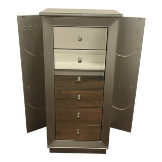 Febe Free Standing Jewelry Armoire With Mirror Willa Arlo Interiors For Sale