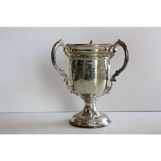 """1920's silver plate """"Hartford Air Meet """" loving cup."""