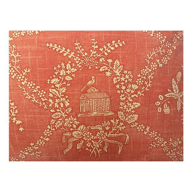 English Jane Austen Toile Pillow - Image 3 of 5
