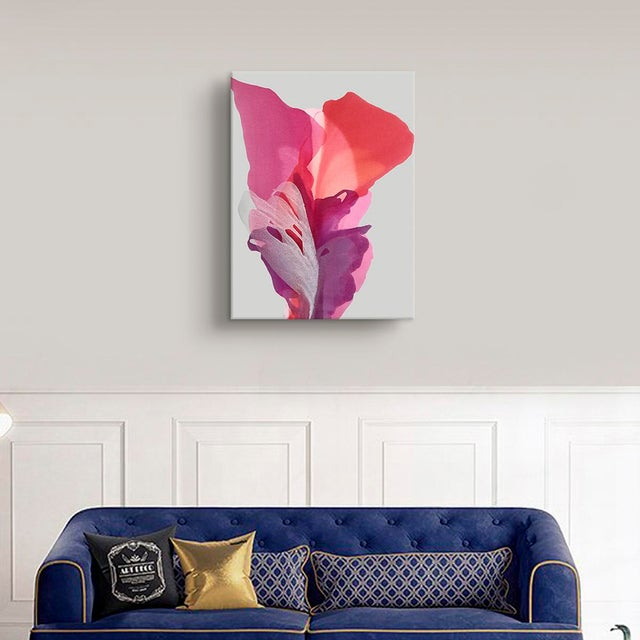 Minimalist art, contrast, bright colors, vivid colors, acrylic, mixed media, floral, flora, statement art, bedroom art,...