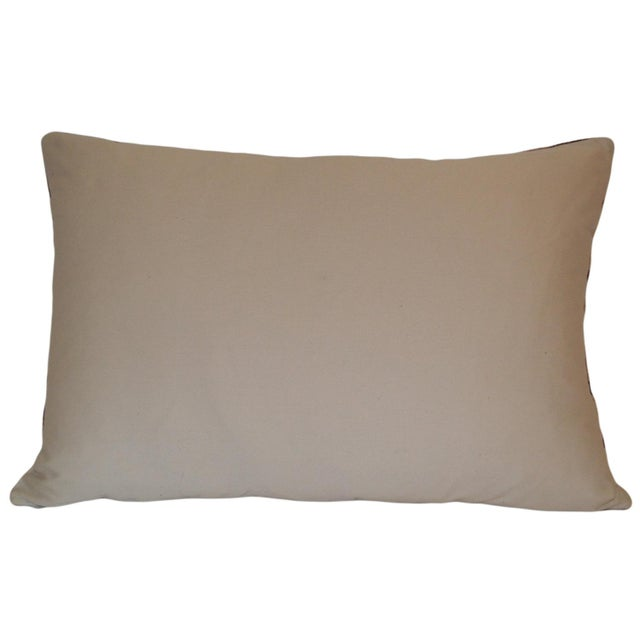 Handloomed Belgian Silk Velvet Accent Pillow with a Natural solid Cotton basket weave fabric for the back. Pillow has an...