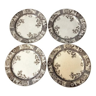 Challinor & Mayer Melbourne Earthenware Plates - Set of 4 For Sale