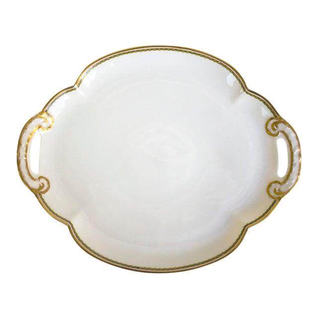1960s Theodore Haviland Limoges France Porcelain Handled Tray For Sale