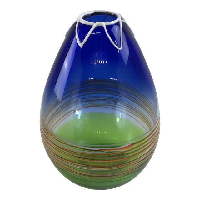 1960s Vintage Gino Cenedese Murano Vase For Sale
