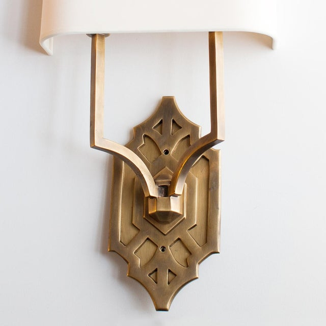 Arts & Crafts Thomas O'Brien Silhouette Fretwork Sconce for Visual Comfort For Sale - Image 3 of 5