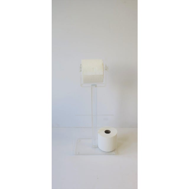 Late 20th Century 1970s Modern Magazine Holder Rack and Toilet Tissue Holder For Sale - Image 5 of 11