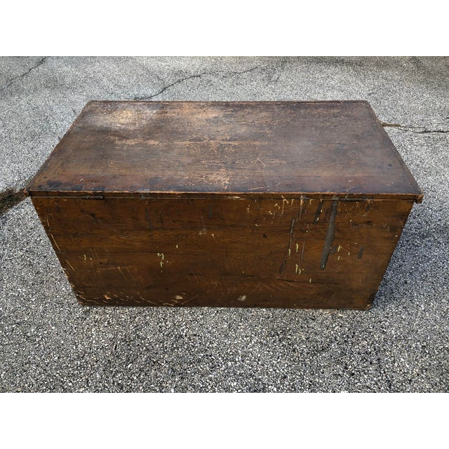 Late 20th Century Late 19th Century Primitive Blanket Chest For Sale - Image 5 of 12