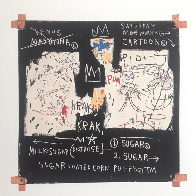 "Paper Jean Michel Basquiat Original Pop Art Lithograph Print ""Panel of Experts"", 1982 For Sale - Image 7 of 11"
