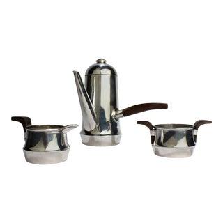 Vintage Hand-Wrought William Spratling Sterling Silver Espresso Coffee Demi Set - Set of 3 For Sale