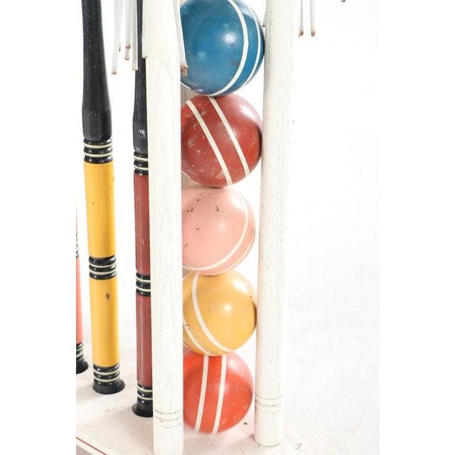 Black Vintage Painted Wood Croquet Set - 29 Piece For Sale - Image 8 of 13
