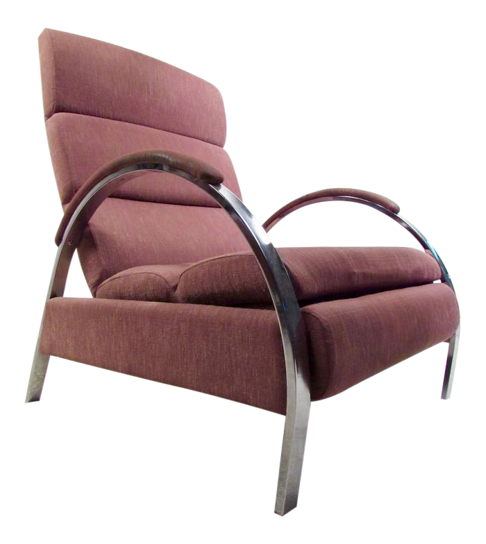 Mid Century Modern Recliner Lounge Chair By George Mulhauser For Dia