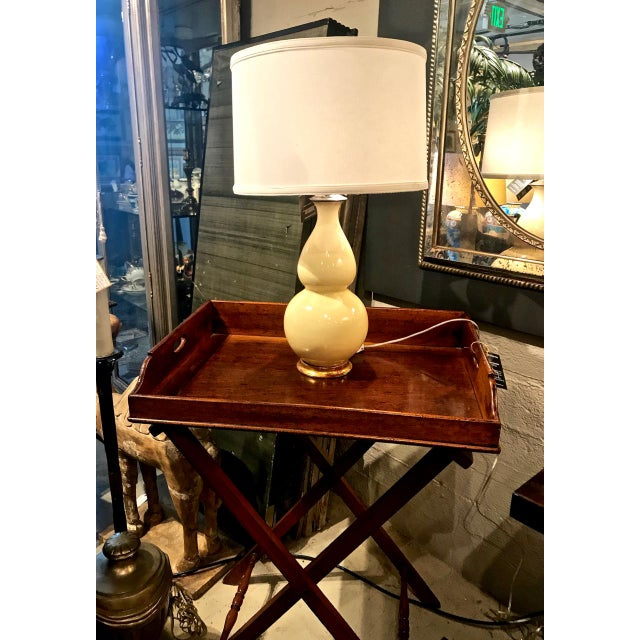 Asian Early Christopher Spitzmiller Lamp, Signed 2002 With Shade For Sale - Image 3 of 8
