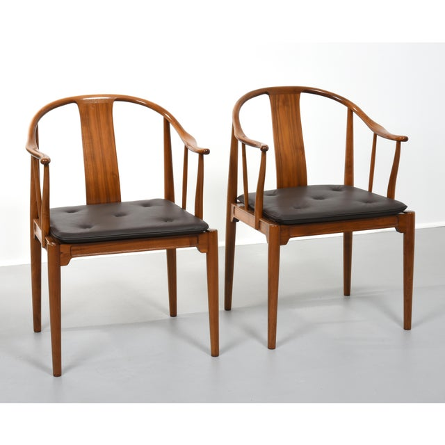 Wood Hans J. Wegner China Chairs for Fritz Hansen, Set of Four, Circa 1944 For Sale - Image 7 of 10