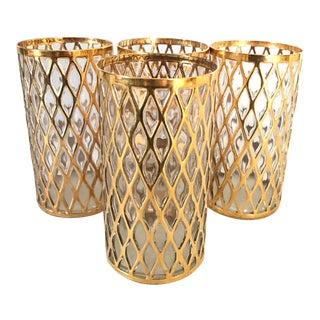 Imperial Sekai Ichi 24 Karat Gold Highball Glasses- Set of 4 For Sale