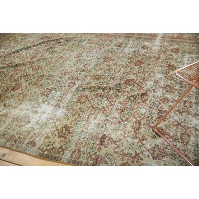 "Vintage Distressed Fragment Mahal Carpet - 7'2"" X 9'6"" For Sale - Image 11 of 12"