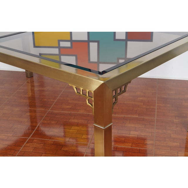 Vintage Mastercraft Brass & Glass Dining Table - Image 3 of 7