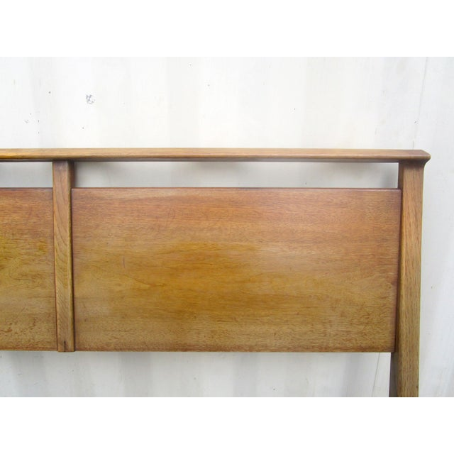 Vintage Wooden Headboard & Footboard, Full Size - Image 2 of 7