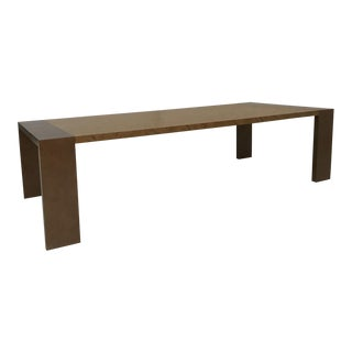 Italian Burlwood Dining Table